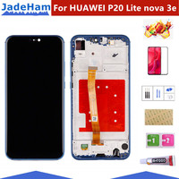 5.84 2280x1080 IPS Display For HUAWEI P20 Lite LCD Touch Screen Replacement with Frame Original LCD P20 Lite ane lx3 nova 3e