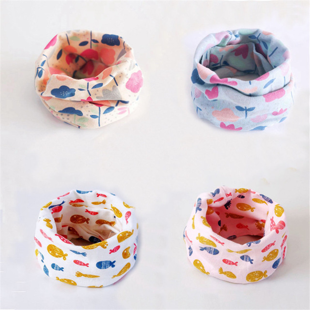 new cotton flower dog bunny flag cat cartoon baby o ring scarf boys girls fashion neck wear collars fashion neckerchief scarves