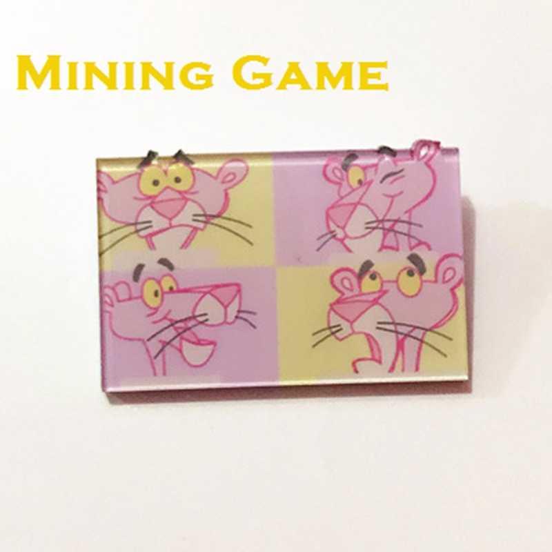Cartoon różowa pantera Pin broszka odznaka zabawki dla plecak ubrania ikony na plecak Party materiały dekoracyjne dziecko Gril przyjaciół prezent