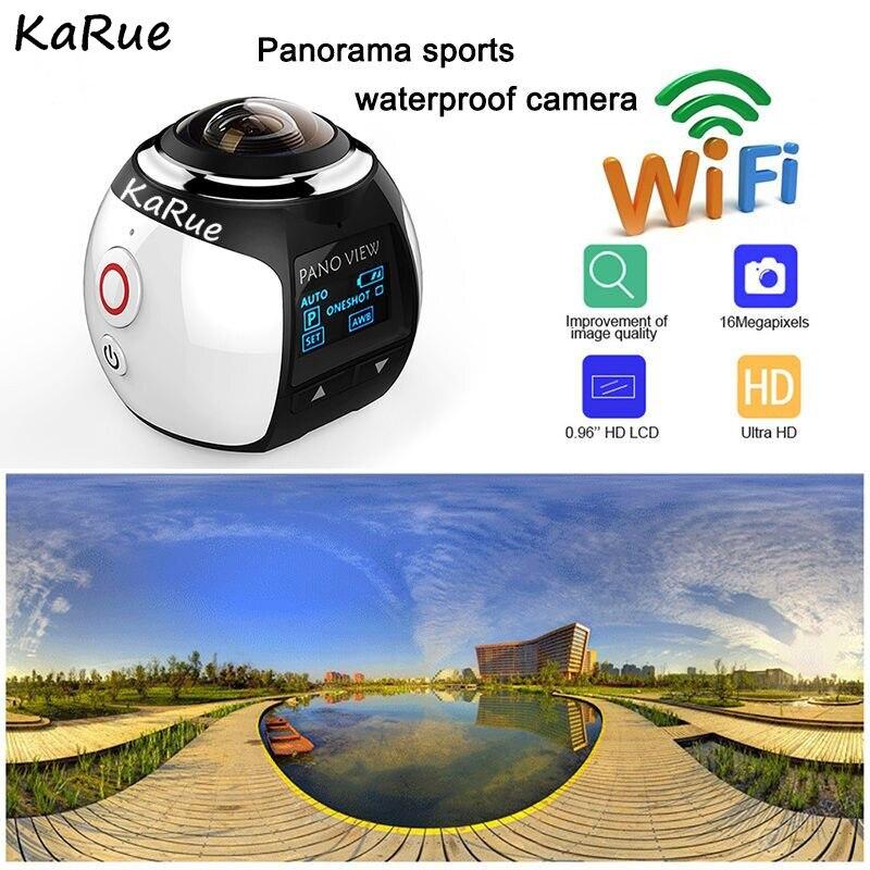 KaRue V1B Camera 360 Action Camera Wifi 2448*2448 Ultra HD Mini Panorama Camera 360 Degree Sport Driving VR Camera dhl karue 360 camera 4k wifi mini panoramic camera 2448 2448 ultra hd camera 360 degree waterproof sport driving vr camera