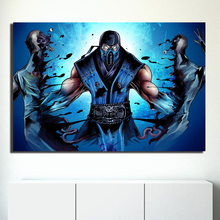 Mortal Kombat Sub-Zero Scorpion Poster Paintings On Canvas Modern Art Decorative Wall Pictures For Living Room Home Decor