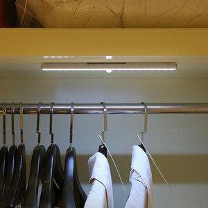 Image 5 - אלחוטי 20 LED USB נטענת לילה אור PIR Motion חיישן אור תחת ארון מלתחת ארון מטבח חיישן אור מנורה
