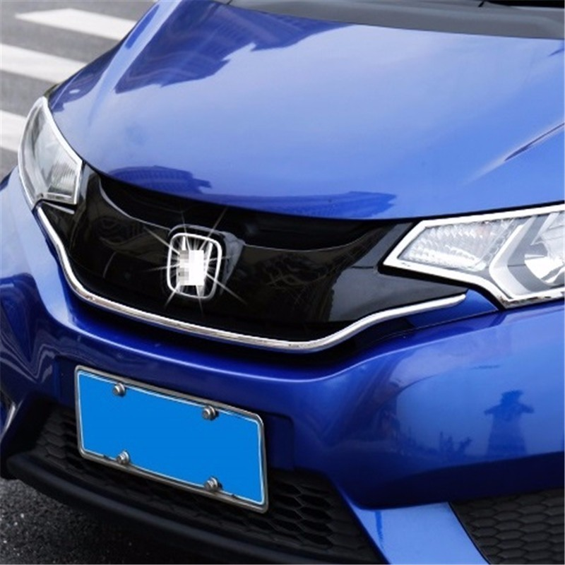 automobile car covers accessories chromium styling 14 modified high grille trim strip 2014 net decoration FOR Honda fit automobile car styling accessories chromium 2014 17 modified bumper grille trim strip grid decorative bright for toyota vios