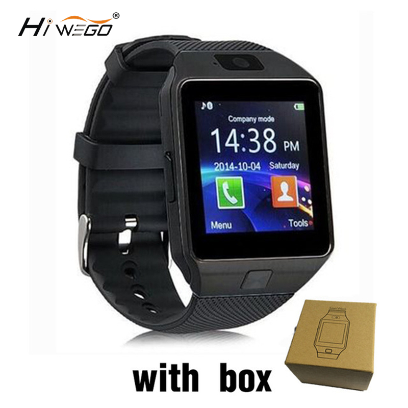 Hiwego DZ09 Smart Watch Men Push Message Bluetooth Android Phone Smartwatch Men Watch Camera Voice Recorder Pedometer SmartWatch image