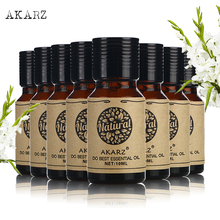 AKARZ value meals Jasmine Lavender Sandalwood Rose Peppermint Patchouli Tea tree Lotus essential Oils 10ml*8