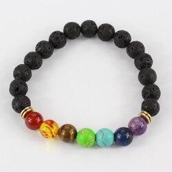 Muti color design mens bracelets black lava 7 chakra healing balance beads bracelet for men women.jpg 250x250