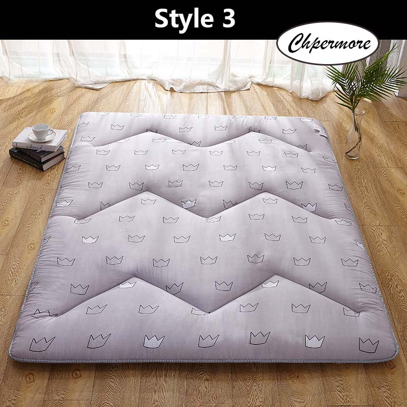 Chpermore sanding M quilting Mattress Keep warm Tatami Foldable Creative pattern Mattresses Bedspreads King Queen Twin Size
