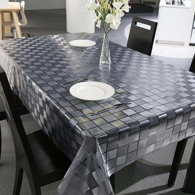 New Striped Plastic Tablecloth