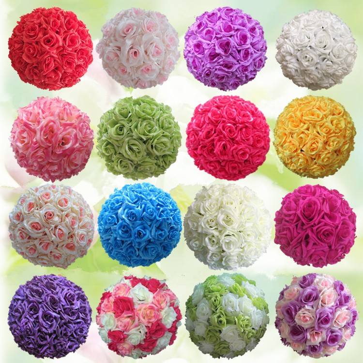12inch 25cm wedding decoration centerpieces artificial silk flower 12inch 25cm wedding decoration centerpieces artificial silk flower ball wedding kissing balls pomanders for decoration marriage in artificial dried mightylinksfo