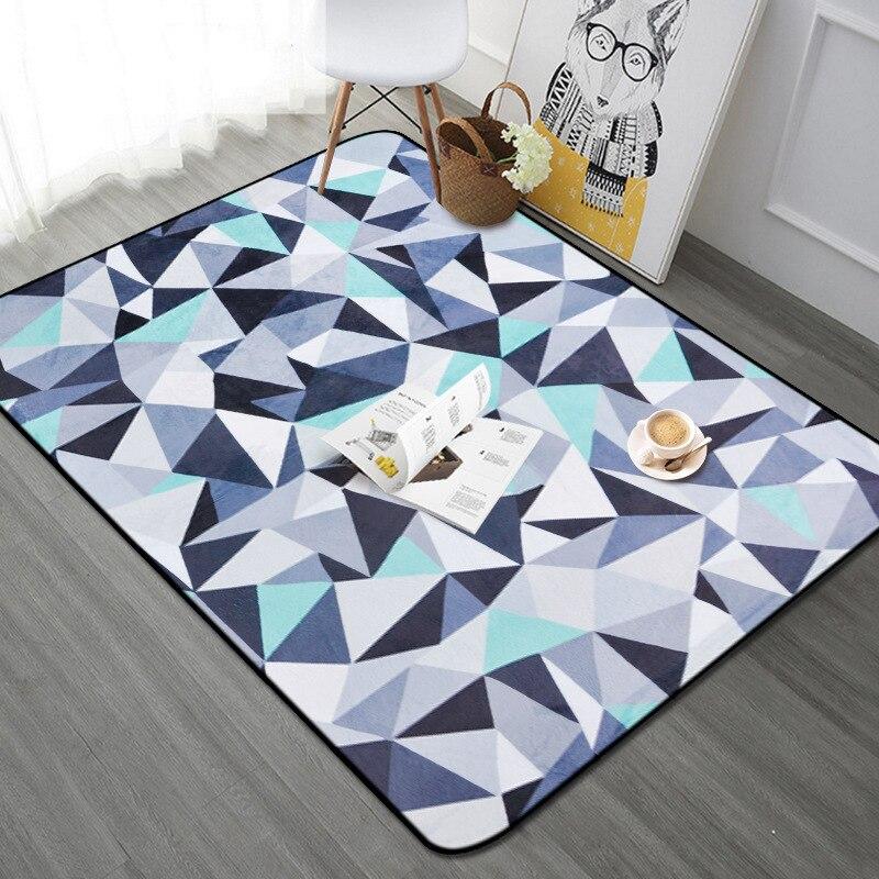 Série triangulaire tapis de maison antidérapant support tapis de chevet chambre d'enfants tapis de jeu moderne Simple tapis tapis de Table tapis de couloir