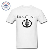2017 Natural Cotton Dream Theater Rock Funny Cotton T Shirt for men