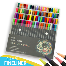 80 Colors 0.4mm Tip Black Fineliner Sketching Pens sakura automatic pencil 0 3 0 5mm 4 colors needle tip metal shell no break non slip for drafting sketching hand drawn writing
