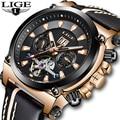 NewLIGE мужские часы модные Tourbillon деловые водонепроницаемые часы мужские повседневные кожаные автоматические механические часы Relogio Masculino