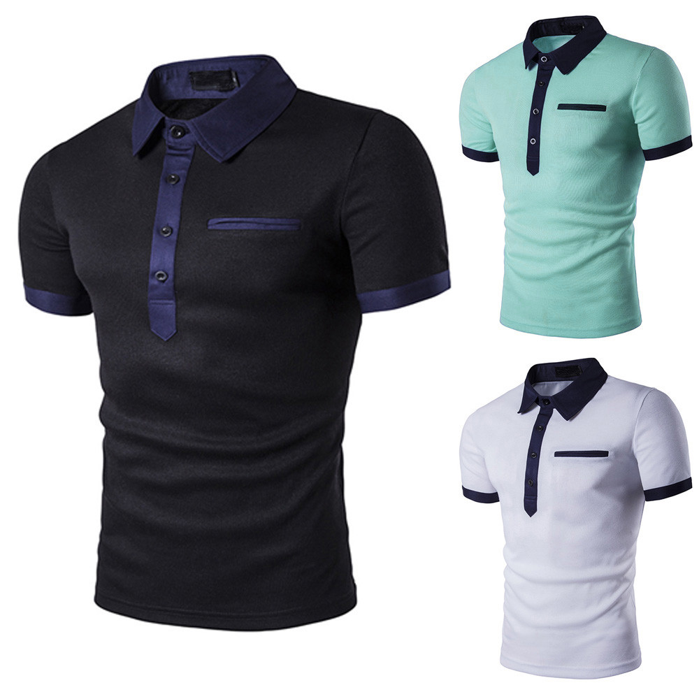 High quality Ripped Hole Short Sleeve   Polo   classic brand Men   Polo   Shirt Lacos Tee Men Business Casual solid breathable   polos
