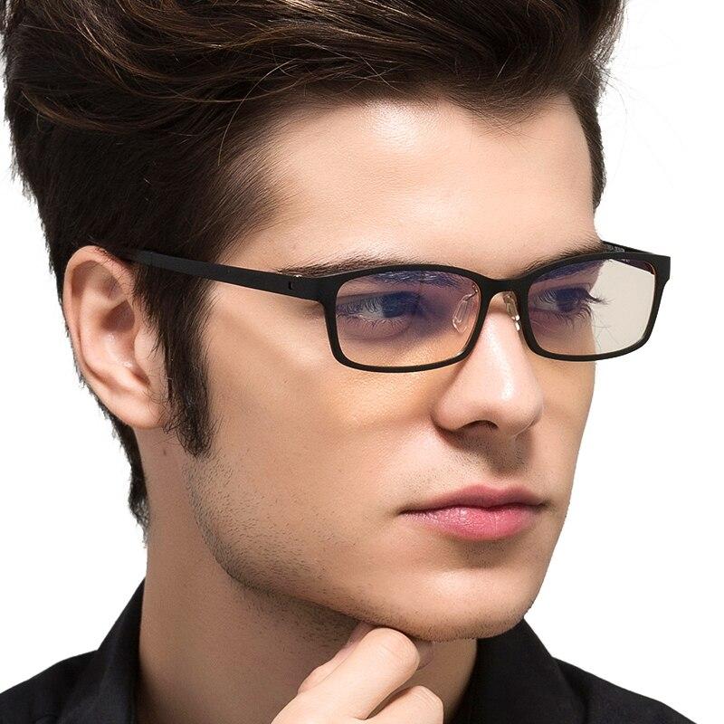De TUNGSTÈNE CARBONE Ordinateur Goggle Anti laser bleu Fatigue résistant Aux Radiations lunettes de lecture Cadre Lunettes Oculos de grau 1310