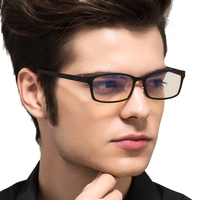 TUNGSTEN CARBON STEEL Computer Goggles Anti Fatigue Radiation Resistant Reading Glasses Frame Eyeglasses Oculos De Grau