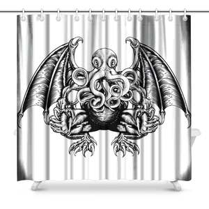 Aplysia Cthulhu In Style Fabric Bathroom Shower Curtain Set