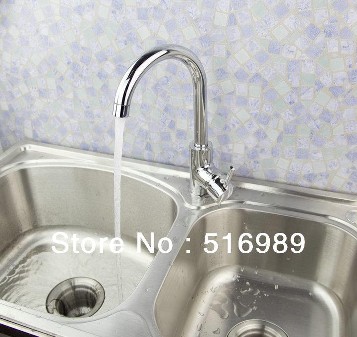Single Handle Tap Kitchen Sinks Faucet Chrome Bathroom 360 Swivel Faucet tap tree782