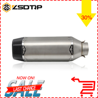 ZSDTRP 51mm Modified Motorcycle Carbon Exhaust Pipe Back Pressure High Temperature Resistant Stainless Muffler