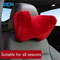 LOEN Super Soft U Shape Suede Cover Car Headrest Neck Support Pillow Seat Cushion For Benz Maybach BMW Audi Audi Toyota Kia Lada