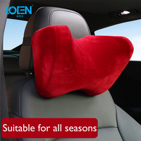LOEN Super Soft U Shape Suede Cover Car Headrest Neck Support Pillow Seat Cushion For Benz Maybach BMW Audi Audi Toyota Kia Lada