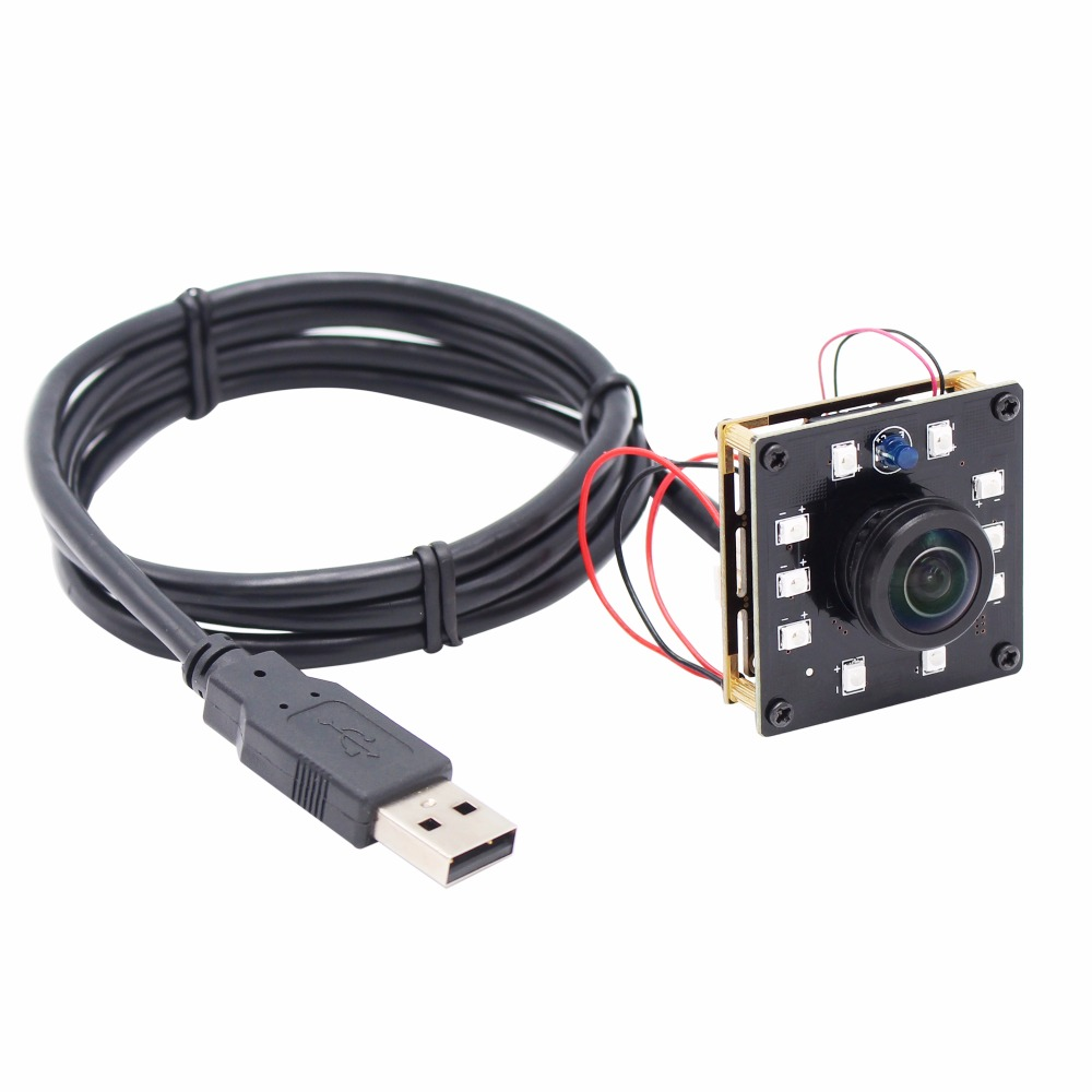 ELP 1.3MP Panorama Wide Angle Night Vision USB camera CMOS AR0130 Android Linux UVC 180 degree fisheye Webcam Mini camera module elp high speed 2mp cmos ov2710 module wide view angle fisheye uvc android linux ir led board night vision hd usb camera 1080p