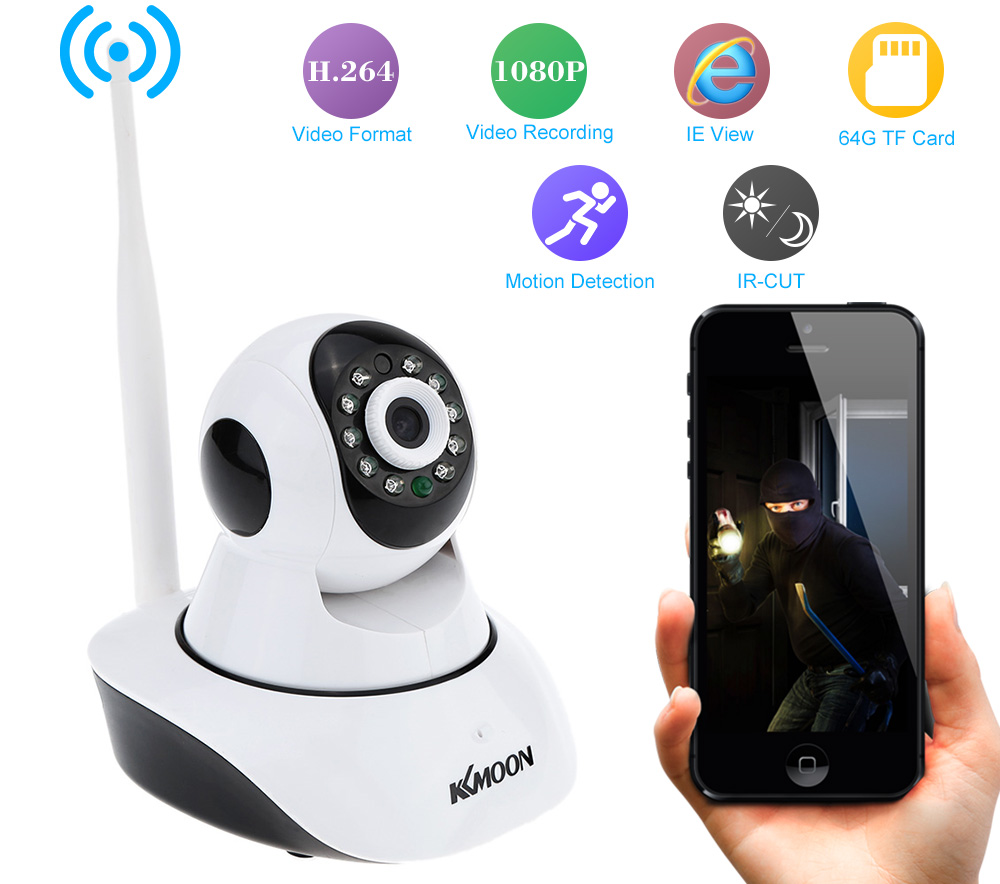 cheapest kkmoon hd 1080p ip camera wifi camera surveillance camera wireless p2p ip camara p t. Black Bedroom Furniture Sets. Home Design Ideas
