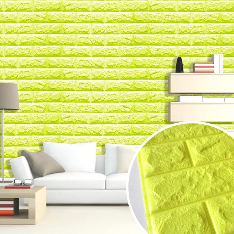 Embossed Brick Stone DIY 3D Wall Sticker Waterproof Foam Wallpaper ...