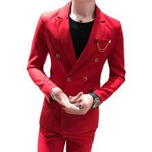 Grey Blazer Masculino Slim Fit Mens Suits Custom Made Wedding Groom 2017 Costume Homme Men Suit New Tuxedo