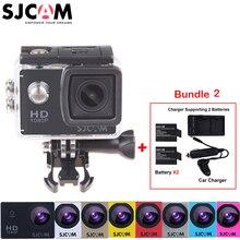 100% Original Sjcam SJ4000 30M Waterproof Mini Outdoor Sports Action Camera Sj 4000 Cam DV+Extra 2 Battery+Dual Wall+Car Charger