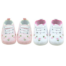 baby girl shoes Infant Toddler Princess Flower Crib Shoes Soft Sole Sneakers Cotton Lace-Up Kid Girls Baby First Walkers Shoes