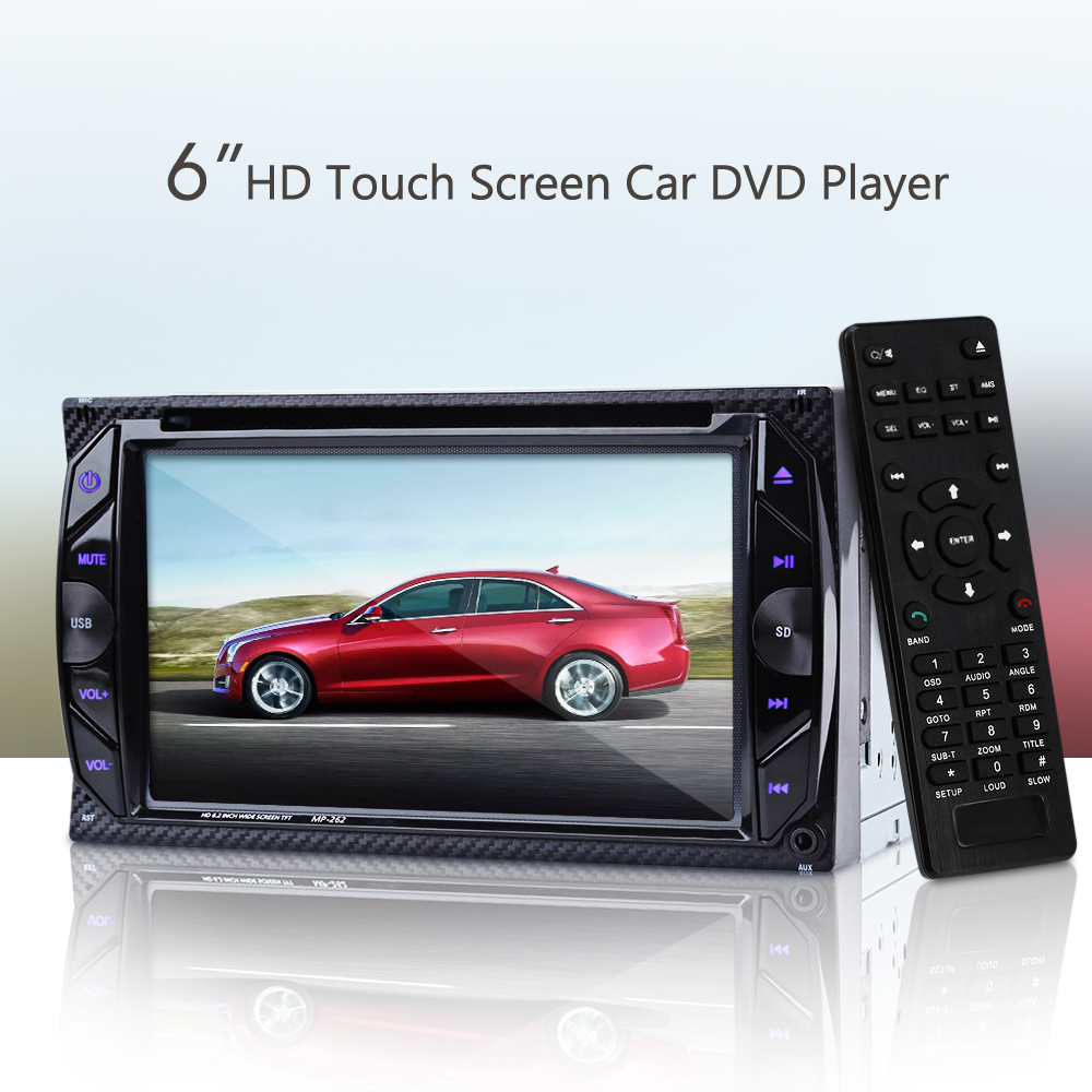 6.2 inch Car DVD Player 2 Din Car Radio Bluetooth V3.0 32GB In-dash Stereo Video FM Autoradio Central Multimidia MP4 MP5