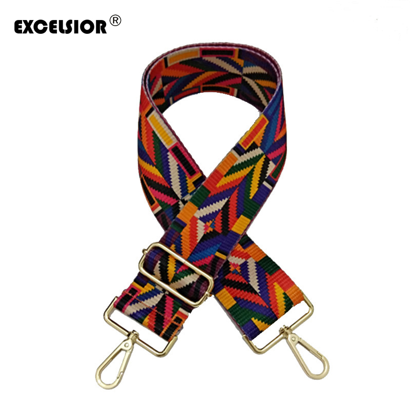 EXCELSIOR 2019 Crossbody Bag Strap High Quality Canvas Colorful New Arrivals Wide Handbag Strap Fashionable Decoration for BagEXCELSIOR 2019 Crossbody Bag Strap High Quality Canvas Colorful New Arrivals Wide Handbag Strap Fashionable Decoration for Bag
