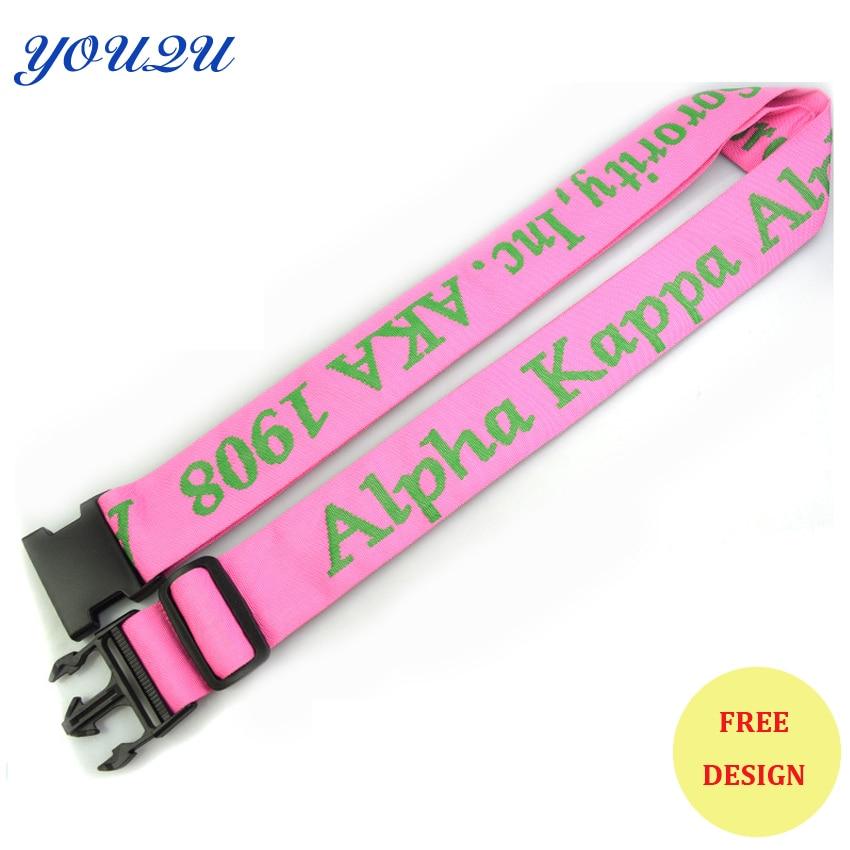 Customized 5.0*180 Cm Polyester Simple Travel Luggage Belt Luggage Strap