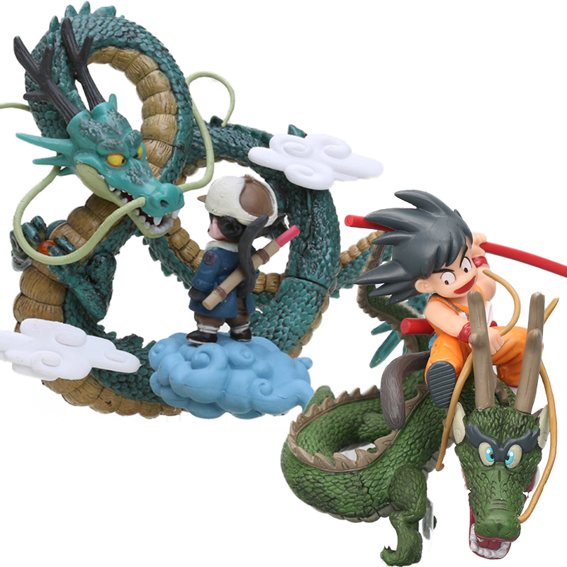 Dragon Ball Z Action Figures Son Goku Gokou Childhood Riding Shenron Model Toys