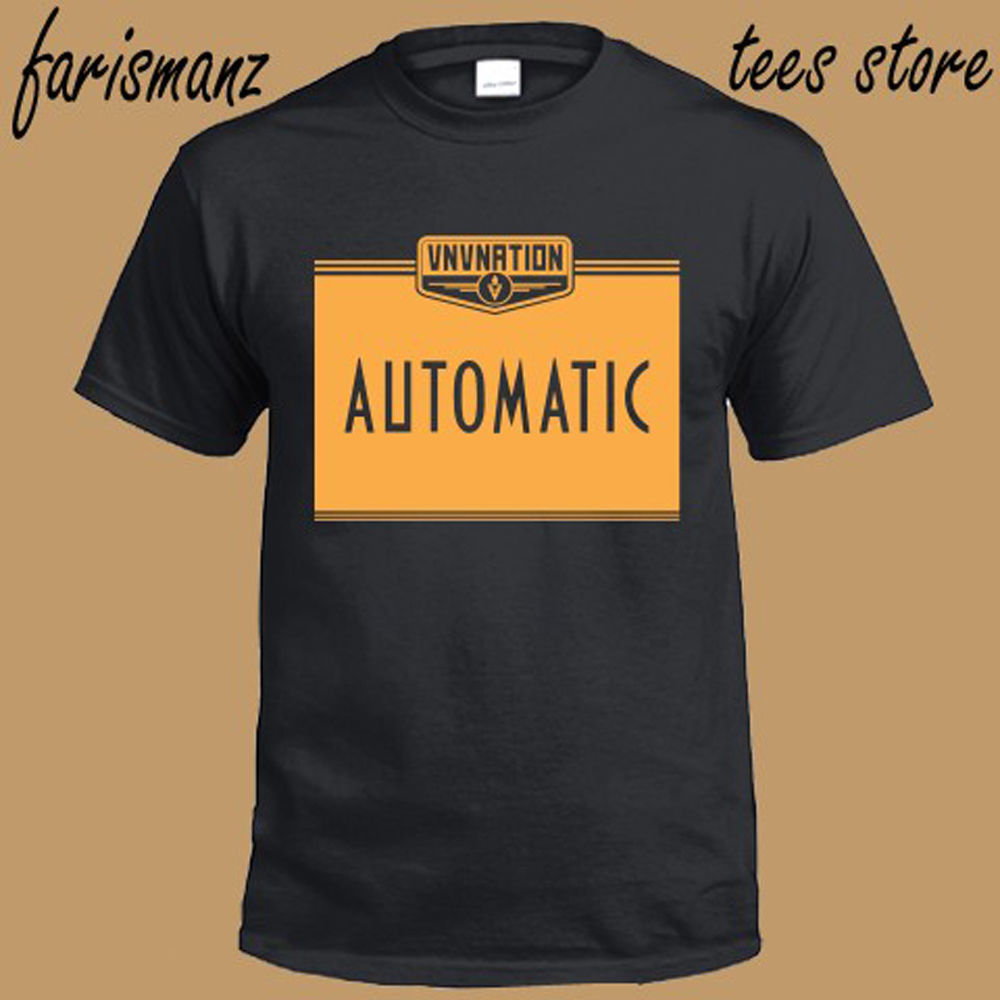 New VNV Nation Automatic Electronic Music Band Mens Black T-Shirt Size S-3XL