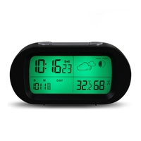 High Quality Digital Time Thermometer Date Weather Display Snooze Mode Alarm Clock With LCD Screen For