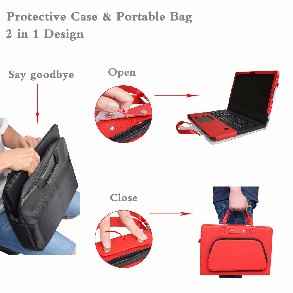 2 in 1 Accurately Designed Protective Cover + Portable Carrying Bag For 13.3 Dell Inspiron 13 Series 7378 7368 Laptop