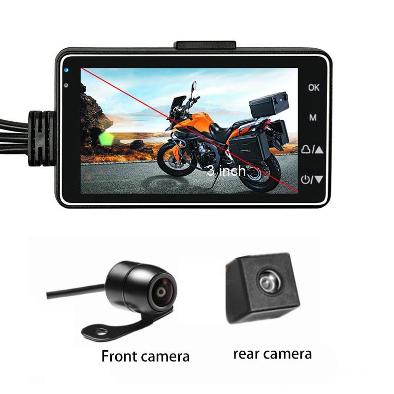 HD moto DVR caméra 3 pouces écran moteur Dash Cam double piste avant arrière enregistreur lentille étanche moto enregistrement vidéo