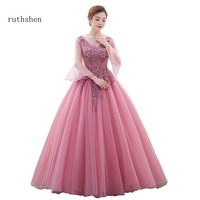 Ruthshen Warming Vestidos De Dulces 16 Quinceanera Dresses With Appliques Long Sleeves Sweet 15 Masquerade A
