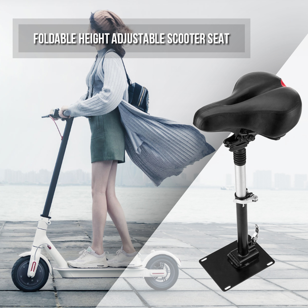 купить Electric Skateboard Saddle for Xiaomi Mijia M365 Scooter Foldable Height Adjustable Shock-Absorbing Folding Seat Chair по цене 3086.97 рублей