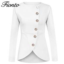 2018 Spring Women Office Blazer Long Sleeve Round Neck Suit Profession Womens Coat Blazers Irregular Formal Lady Tops F2586