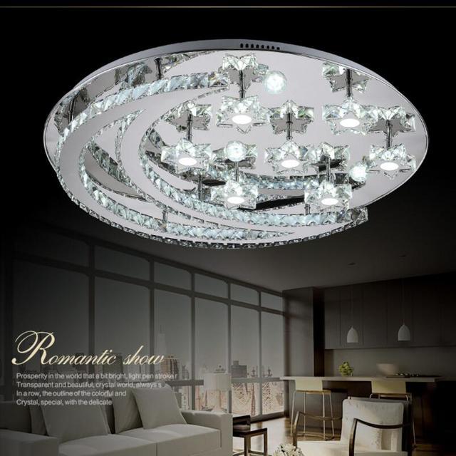 Kristall Moderne Led Deckenleuchten Fr Wohnzimmer Schlafzimmer Kreative Mond Sterne Deckenleuchte Edelstahl Leuchten