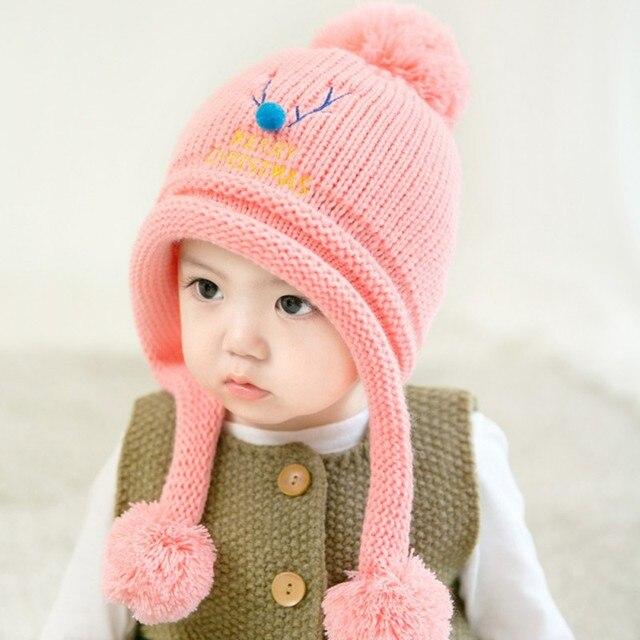 new cool baby boy girl kids winter warm cap hoed christmas deer hat