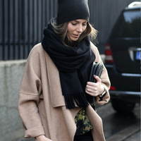 VOHIO Europe Autumn Winter New Imitation Cashmere Scarf Plaid Cloak Lady Pure Men Wholesale Manufacturers Free