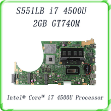 For ASUS S551LB S551LN S551LA mainboard motherboard non-integrated GT740M 2GB N14P-GV2-S-A1 with i7-4500 cpu SR16Z Fully Tested