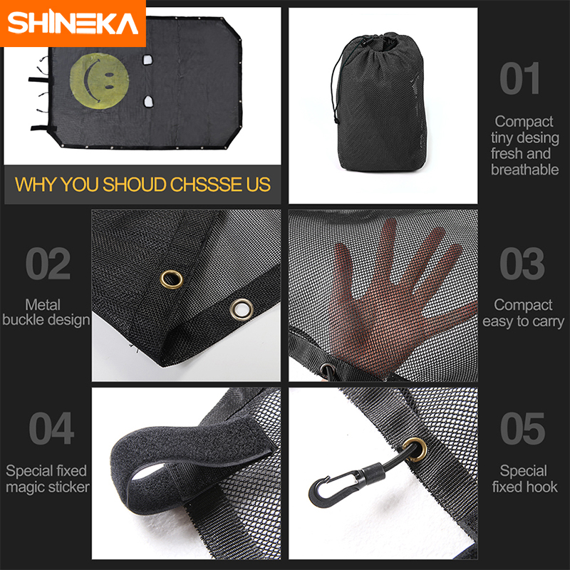 Image 3 - SHINEKA Top Sunshade Mesh Car Cover Roof UV Proof Protection Net for Jeep Wrangler JK 2 Door and 4 Door Car Accessories Styling-in Sunroof, Convertible & Hardtop from Automobiles & Motorcycles