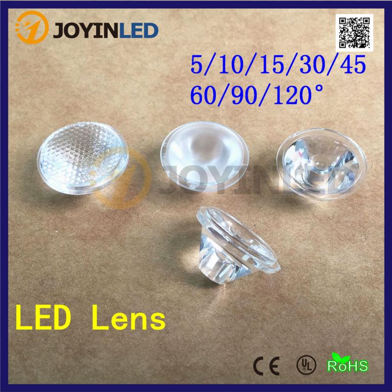 50 pcs 45 (5 10 15 30 60 90 120) grau lente levou com a superfície do  grânulo, 20mm lente óptica pmma para high power led diodo frete grátis 6bff1e18d2