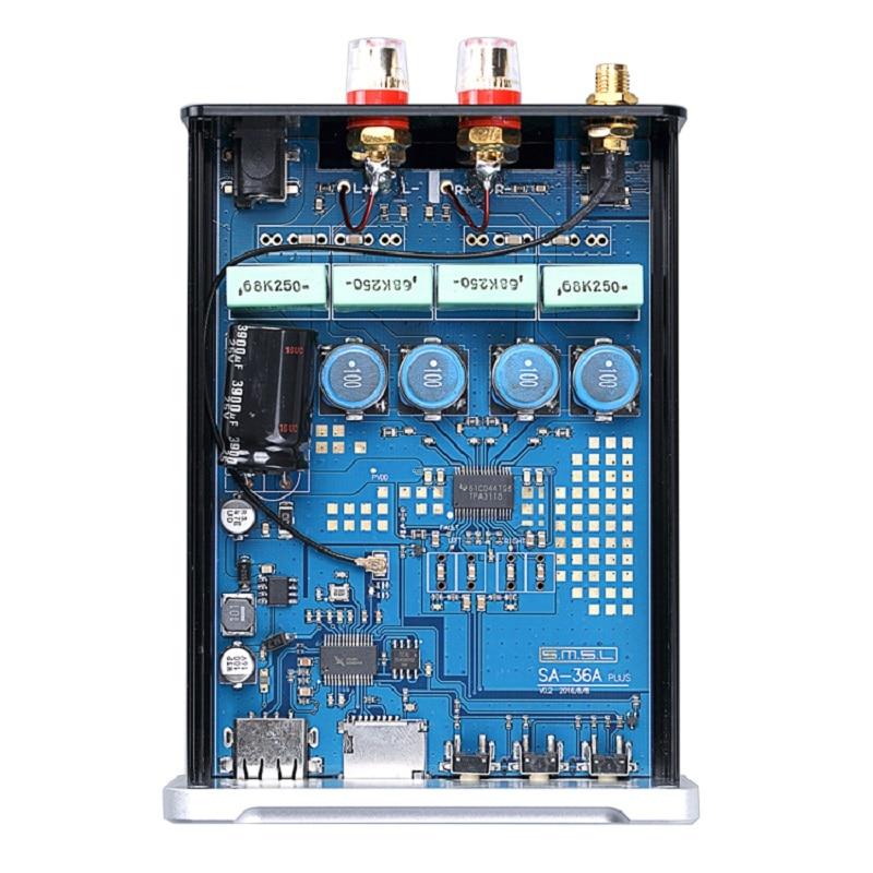 SMSL SA 36A Plus 30 W TPA3118 Bluetooth AUX de Audio de alta fidelidad, amplificador Digital de clase d amplificador de potencia apoyo TF tarjeta/ entrada de disco USB/U - 6