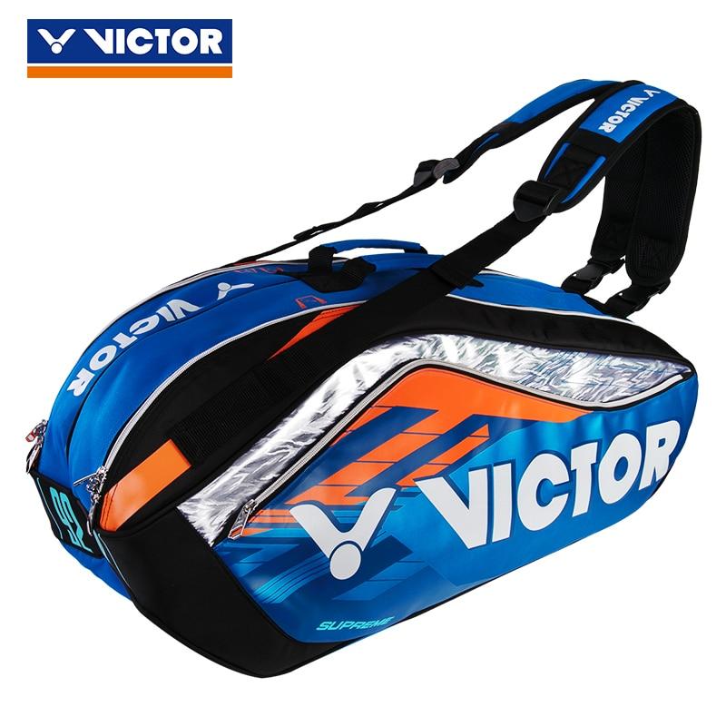 Discreet Victor Top Level Badminton Bag New Back Pack Tennis Badminton Bag For 12 Pieces Of Equipment Sport Gym Bag Br9208